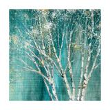 Blue Birch Giclee-tryk i høj kvalitet af Julia Purinton