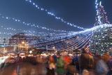 Christmas Market, Mir Square, Prague, Czech Republic, Europe Photographic Print by Richard Nebesky