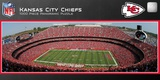 Kansas City Chiefs 1000 Piece Panoramic Stadium Jigsaw Puzzle Jigsaw Puzzle