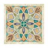 Birds Garden Tile III Premium Giclee Print by Daphne Brissonnet