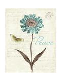Slated Blue IV Premium Giclee-trykk av Katie Pertiet