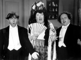 The Three Stooges: The Singing Stooges Photographic Print