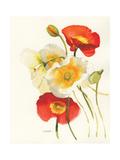 Red and White Icelands II Giclee-tryk i høj kvalitet af Shirley Novak