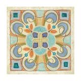 Birds Garden Tile II Premium Giclee Print by Daphne Brissonnet