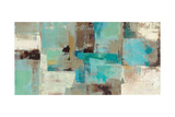 Teal and Aqua Reflections V2 Premium Giclee Print by Silvia Vassileva