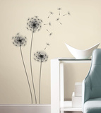 Whimsical Dandelion Peel and Stick Giant Wall Decal Wall Decal