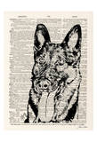 German Shepard Print by Tina Carlson