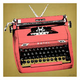Red Typewriter Poster by Tina Carlson