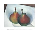 Two Pears Posters par Georgia O'Keeffe
