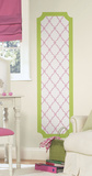 Pink and Lime Trellis Peel and Stick Deco Panel Wall Decal