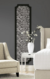 Zebra Print Peel and Stick Deco Panel Wall Decal