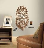 Star Wars - Typographic Chewbacca Peel and Stick Giant Wall Decal - Duvar Çıkartması