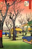 Utagawa Hiroshige Plum Garden in Kamata Poster Poster