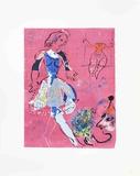 Danseuse sur Fond Mauve Prints by Marc Chagall