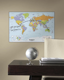 World Map Dry Erase Peel and Stick Giant Wall Decal Wall Decal