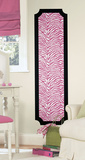 Pink and Black Zebra Print Peel and Stick Deco Panel Wall Decal