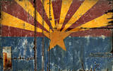 AZ Flag Vintage Wood Sign Wood Sign