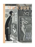 The New Yorker Cover - January 9, 1954 Premium Giclee Print by Peter Arno