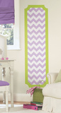 Lime and Lilac Chevron Peel and Stick Deco Panel Wall Decal