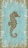 Seahorse Right Wood Sign Wood Sign