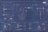Star Wars - Rebel Alliance Fleet blueprint - Reprodüksiyon