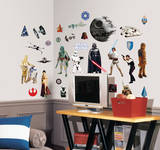 Star Wars Classic Peel & Stick Wall Decals Kalkomania ścienna