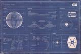Star Wars - Imperial Fleet blueprint - Poster