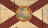 Florida Flag Vintage Wood Sign Wood Sign