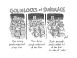 Goldilocks at Sundance - Cartoon Regular Giclee Print by Tom Toro