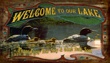 Welcome To Our Lake Vintage Wood Sign Wood Sign