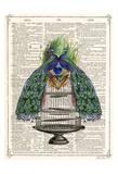 Peacocks Cage 1 Prints by Tina Carlson