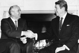 President Ronald Reagan and Mikhail Gorbachev Poster Photo