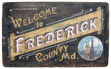 Welcome To Frederick County Vintage Wood Sign Wood Sign