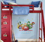 Veggie Tales Peel and Stick Giant Wall Decal Wall Decal