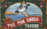 The Ten Gauge Tavern Mallard Vintage Wood Sign Wood Sign