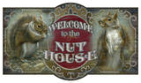 Welcome To The Nut House Vintage Wood Sign Wood Sign
