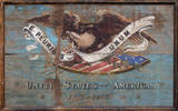 United States USA Shield Vintage Wood Sign Wood Sign
