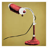 Red Desk Lamp Posters by Tina Carlson