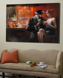 Evening in the Bar I Poster von Willem Haenraets