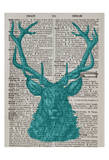 Blue Stag Posters by Tina Carlson