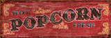 Hot Fresh Popcorn Vintage Wood Sign Wood Sign