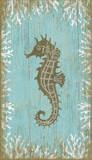 Seahorse Left Wood Sign Wood Sign