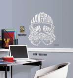 Star Wars - Typographic Clone Trooper Peel and Stick Giant Wall Decal Wall Decal