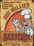 Oui Willie's BBQ Vintage Wood Sign Wood Sign