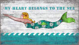 Diving Mermaid My Heart Belongs To The Sea Wood Sign Wood Sign