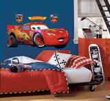 Cars - Lightening McQueen Peel & Stick Giant Wall Decal Autocollant