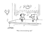"""Why so downward facing, dog?"" - New Yorker Cartoon Premium Giclee Print by David Sipress"