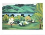 Lake George Early Spring Affiches par Georgia O'Keeffe
