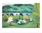 Lake George Early Spring Reprodukcje autor Georgia O'Keeffe