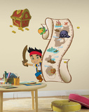 Jake and the Never Land Pirates - Peel and Stick Metric Growth Chart Wall Decal Wall Decal